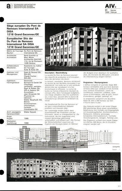 Siège européen Du Pont de Nemours International SA DISA, page 1