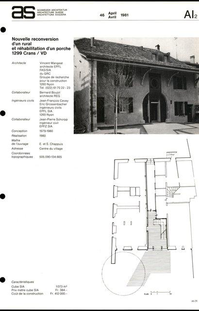Nouvelle reconversion d'un rural et réhabilitation d'un porche, page 1