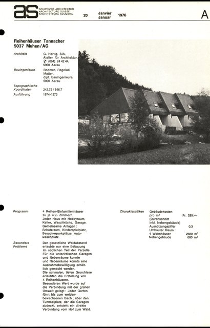 Reihenhäuser Tannacher, page 1