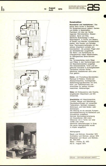 Einfamilienhaus Prof. Dr. J. Dahinden, page 2