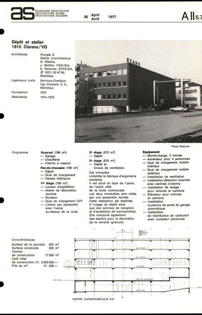 Dépôt et atelier, page 1