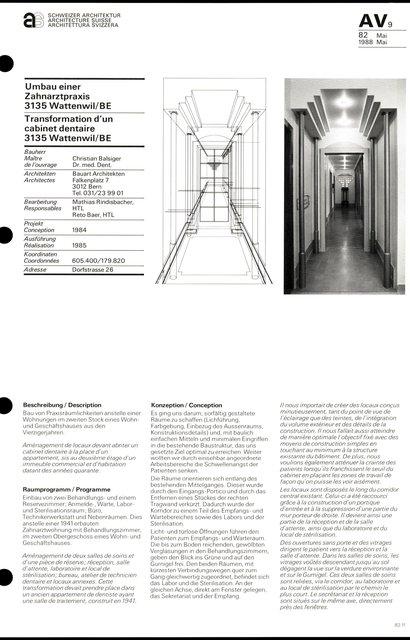 Transformation d'un cabinet dentaire, page 1