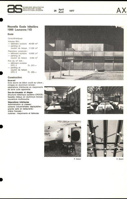 Nouvelle Ecole hôtelière, page 3