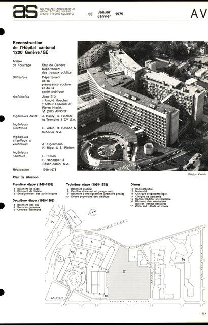 Reconstruction de l'Hôpital cantonal, page 1