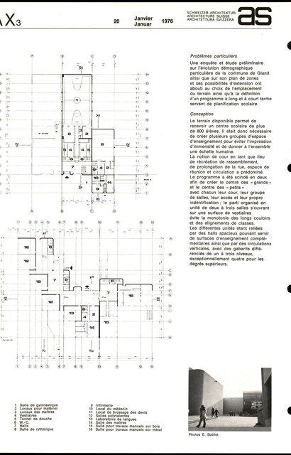 Centre scolaire et sportif, page 3