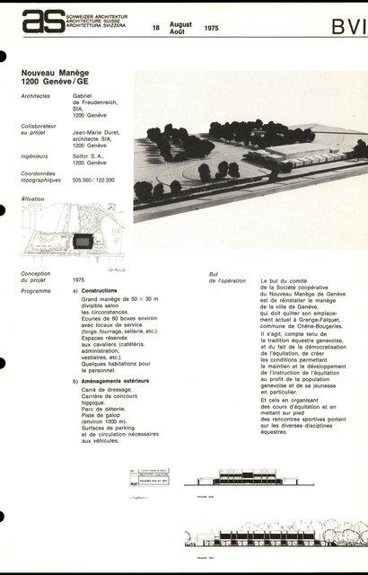 Nouveau Manège, page 1