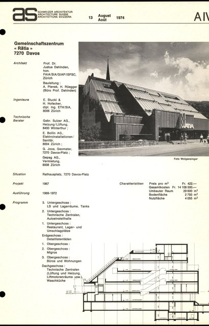 """Gemeinschaftszentrum """"Rätia"""", page 1"""