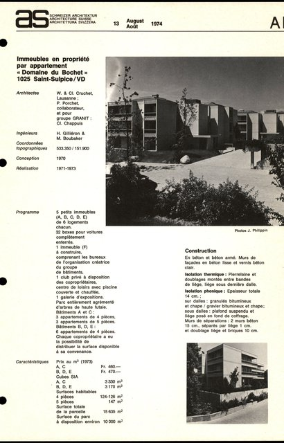 """Immeubles en propriété par appartement """"Domaine du Bochet"""", page 1"""