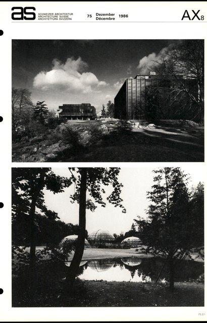 Jardin botanique et instituts botaniques de l'Université de Zurich, page 3