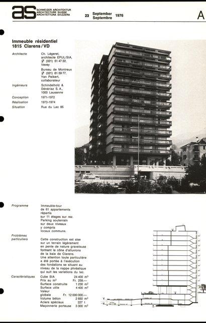 Immeuble résidentiel, page 1