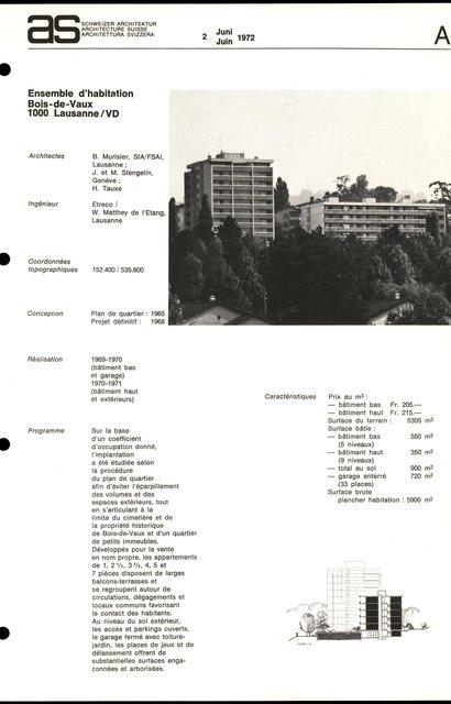 Ensemble d'habitation Bois-de-Vaux, page 1