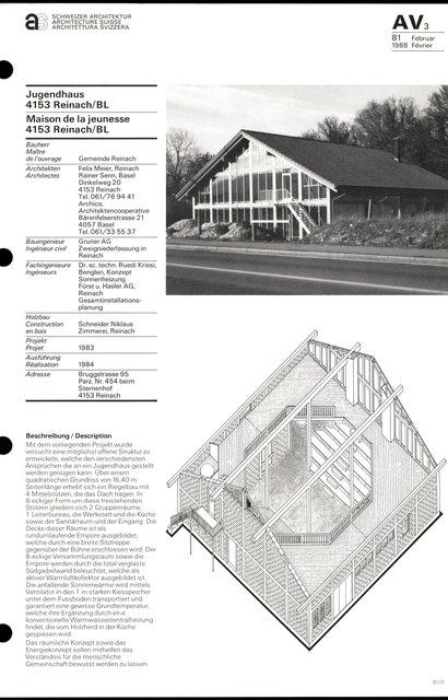 Maison de la jeunesse, page 1