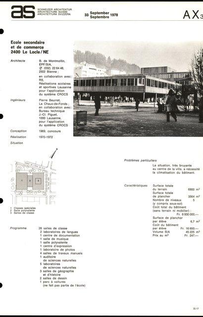 Ecole secondaire et de commerce, page 1