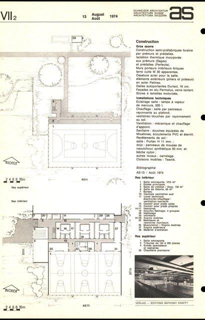 Centre sportif de l'Uni et de l'EPF de Lausanne, Salle omnisports, page 2