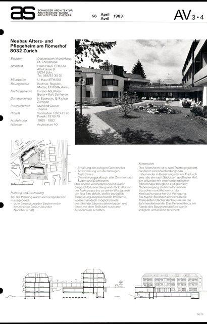 Neubau Alters- und Pflegeheim am Römerhof, page 1