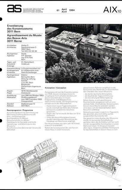 Agrandissement du Musée des Beaux-Arts, page 1