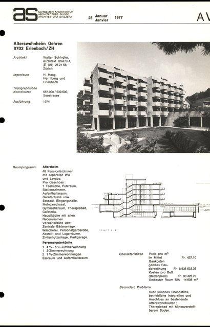 Alterswohnheim Gehren, page 1
