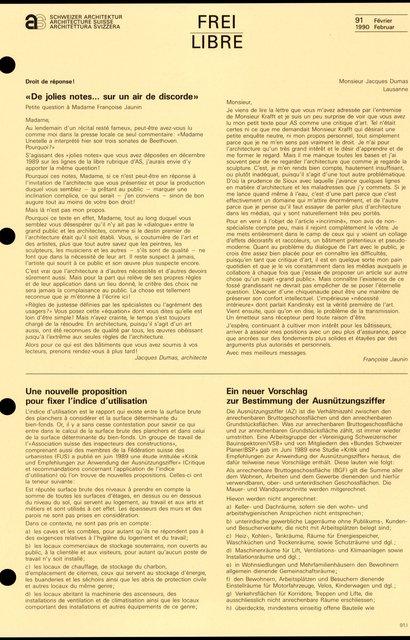 Une nouvelle proposition pour fixer l'indice d'utilisation, page 1