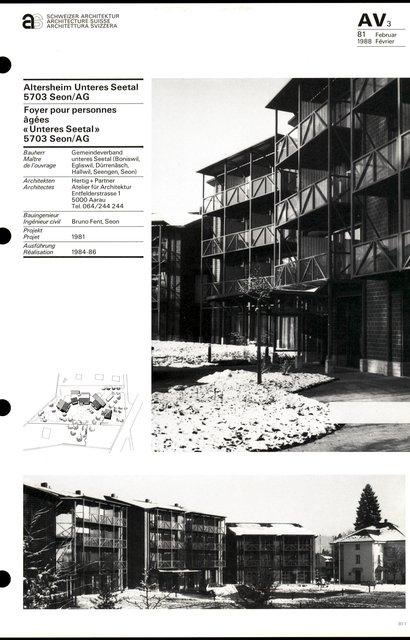 """Foyer pour personnes âgées """"Unteres Seetal"""", page 1"""