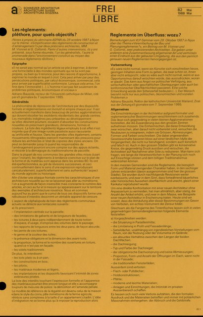 Les règlements: pléthore, pour quels objectifs ?, page 1