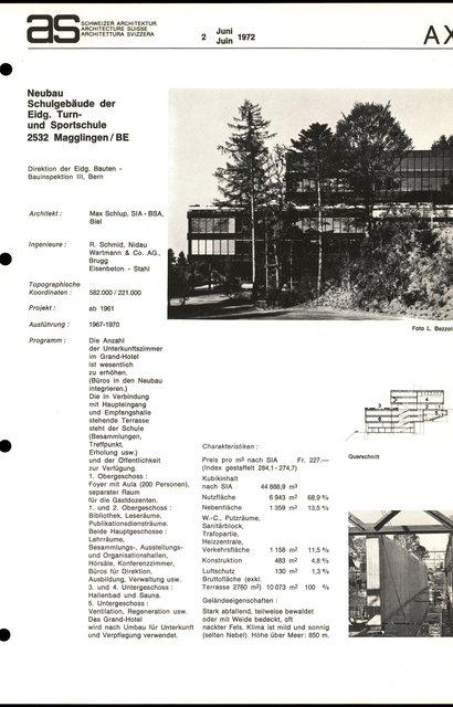 Neubau Schuldebäude der Eidg. Turn- und Sportschule, page 1