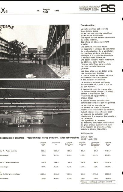 Collège propédeutique de la Faculté des sciences, Cité universitaire de Lausanne-Dorigny, page 4