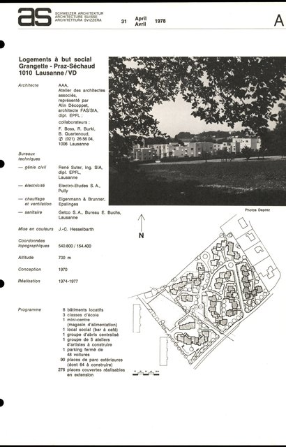 Logements à but social, Grangette - Praz Séchaud, page 1
