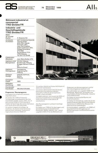 Bâtiment industriel et commercial, page 1