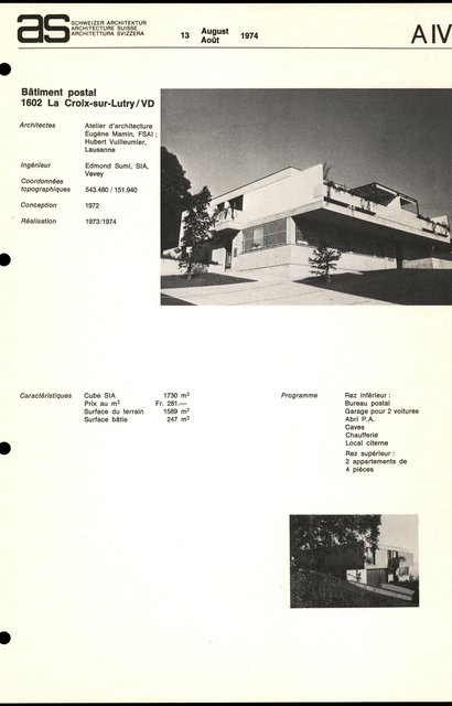 Bâtiment postal, page 1