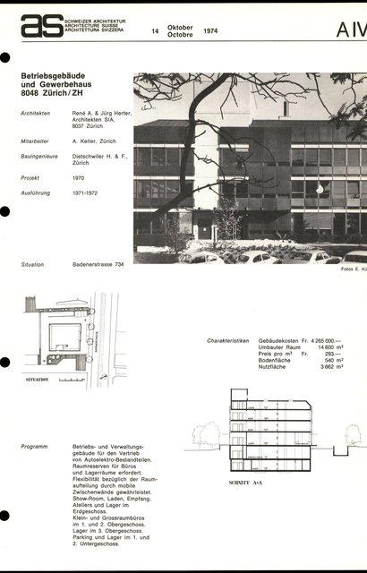 Betriebsgebäude und Gewerbehaus, page 1