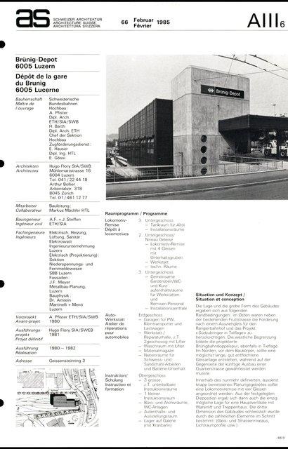 Dépôt de la gare du Brunig, page 1