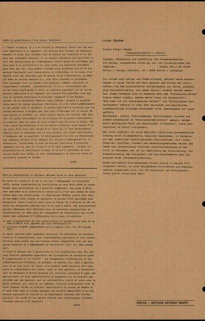 """""""SOLARARCHITEKTUR - PRAXIS"""" - Pierre Robert Sabady, page 1"""