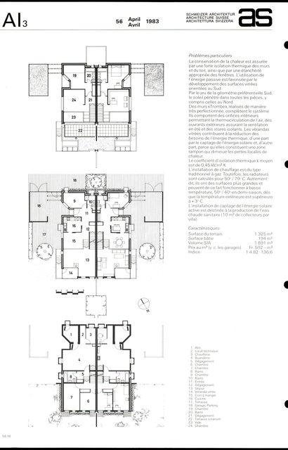 Habitations familiales jumelles chauffées à l'énergie solaire, page 2