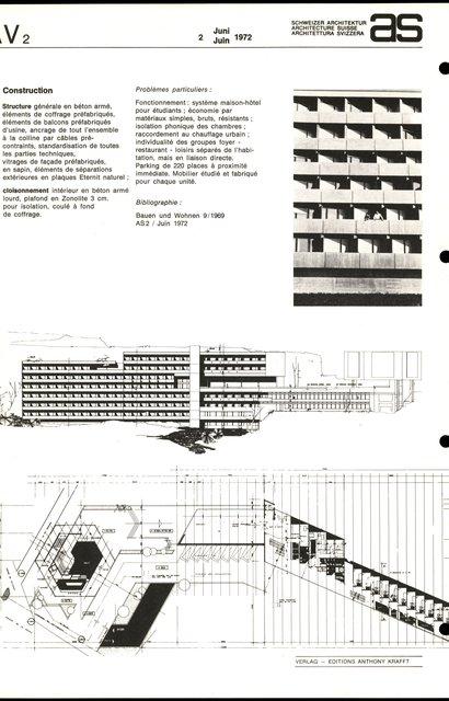 Fondation Maison pour étudiants de l'Université de Lausanne, page 2