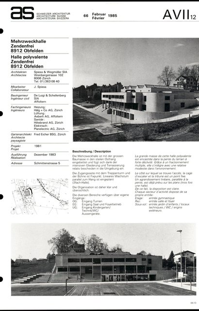 Halle polyvalente Zendenfrei, page 1