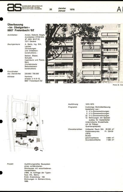 """Überbauung """"Im Obstgarten"""", page 1"""