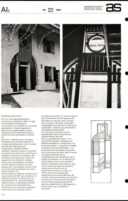 Nouvelle reconversion d'un rural et réhabilitation d'un porche, page 2