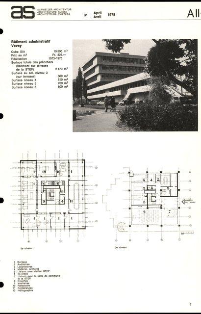 Bâtiment administratif, page 1