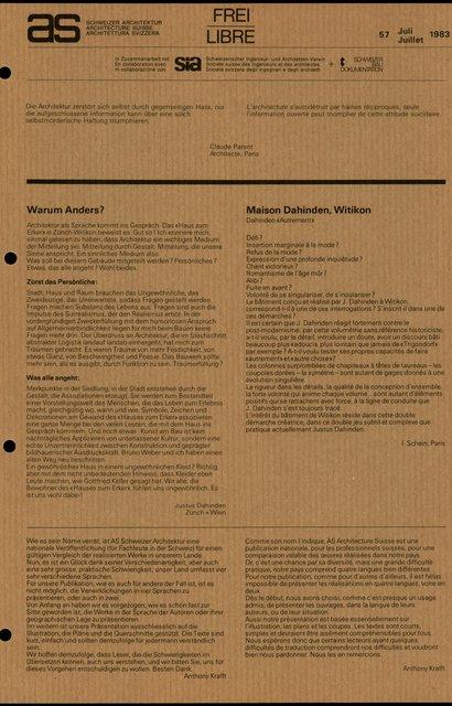Maison Dahinden, Witikon, page 1