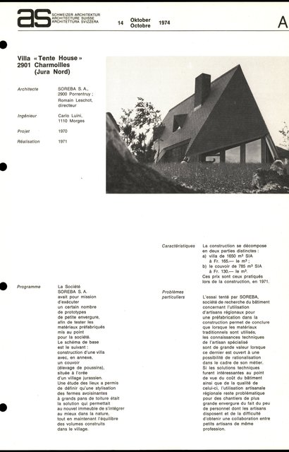 "Villa ""Tente House"", page 1"