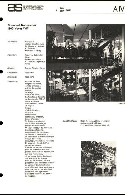 Dormond Nouveautés, page 1
