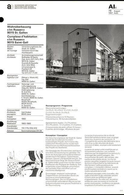 Complexe d'habitation «Im Russen», page 1