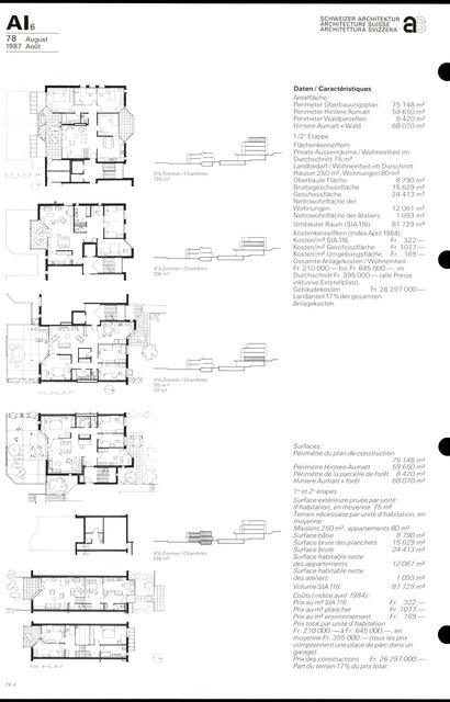 Cité d'habitation Hintere Aumatt, page 4