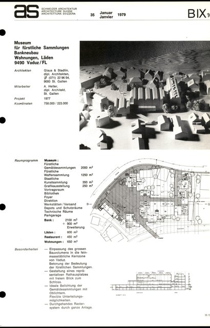 Museum für fürstliche Sammlungen Bankneubau Wohnungen, page 1