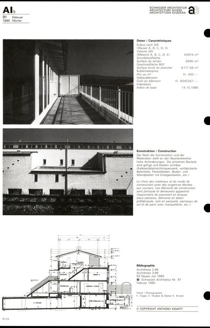 "Grand ensemble d'habitation ""Im Büel"", page 4"