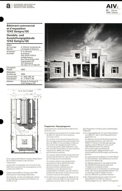 Bâtiment commercial et d'exposition, page 1