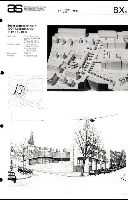 """Ecole professionnelle, 1er prix """"L'Ilot"""", page 1"""