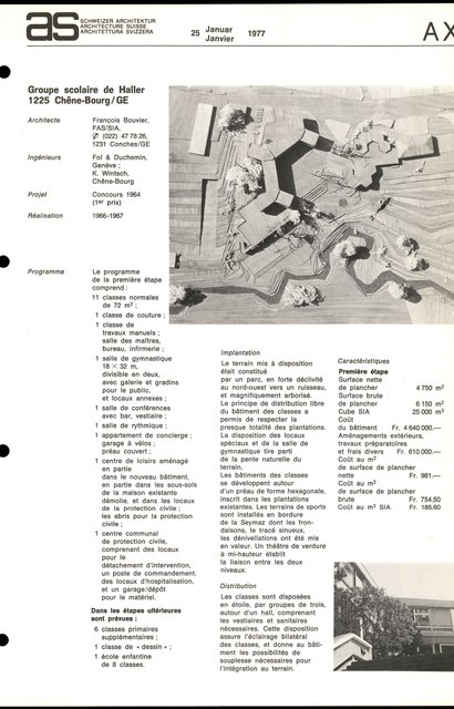 Groupe scolaire de Haller, page 1