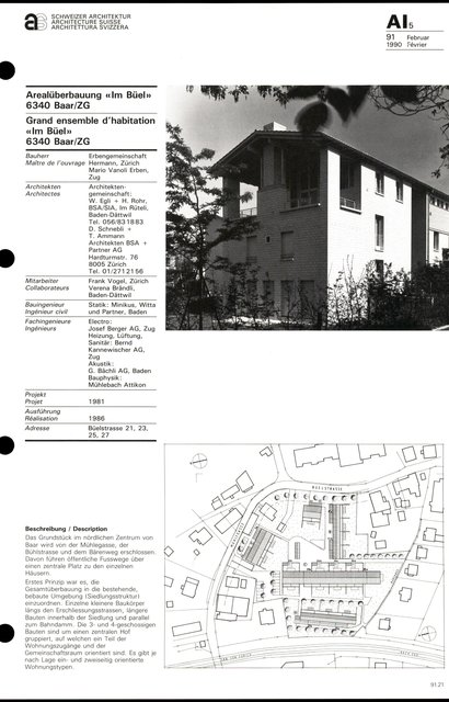 "Grand ensemble d'habitation ""Im Büel"", page 1"