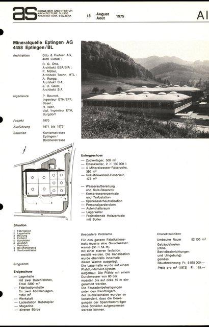 Mineralquelle Eptingen AG, page 1